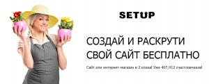 Простой конструктор сайтов и интернет магазинов - SETUP